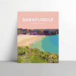 Barafundle Bay pembrokeshire beach pembs nationalpark print coastal wales west south poster welsh posters travel railway