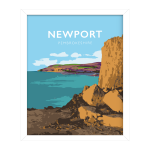 Newport Sands Framed Poster pembrokeshire beach pembs nationalpark print coastal wales west south poster welsh posters travel railway