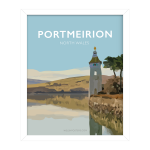 portmeirion gwynedd north wales framed poster print wales travel posters prints vintage style railway art