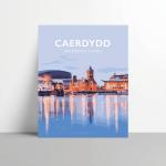cardiff caerdydd welsh Cymraeg cmyru posteri teithio cymraeg printiau welsh posters welsh language print prints