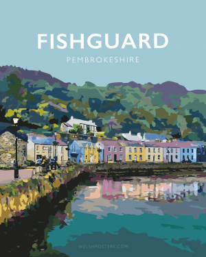 Lower Fishguard Pembrokeshire Town Framed Coast Print Wales West North Pembs Poster Welsh Posters Travel Railway