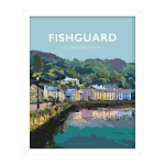 Fishguard Pembrokeshire Town Framed Coast Path Nationalpark Print Coastal Wales West North Pembs Poster Welsh Posters Travel Railway