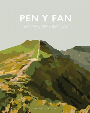 pen y fan welsh Cymraeg cmyru posteri teithio cymraeg printiau welsh posters welsh language