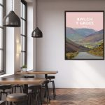 Bwlch y Groes steep road climb northern Snowdonia eryri hellfire pass wales poster print cycling mountain welsh posters travel beautiful