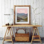 Bwlch y Groes steep road climb northern Snowdonia eryri hellfire pass wales poster print cycling mountain welsh posters travel visit wales art frame