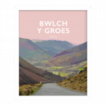 Bwlch y Groes steep road climb northern Snowdonia eryri hellfire pass wales poster print cycling mountain welsh posters travel visit wales art frame design