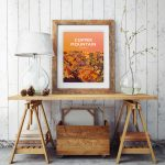 copper mountain angelsey snowdonia poster travel vintage style poster welsh north wales print art beautiful frame framed