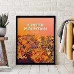 copper mountain angelsey snowdonia poster travel vintage style poster welsh north wales print art black frame framed
