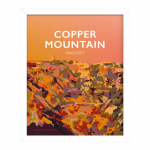 copper mountain angelsey snowdonia poster travel vintage style poster welsh north wales print art white frame framed