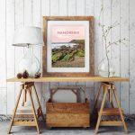 manorbier pembrokeshire wales beach coast poster print west south seaside welsh posters travel railway surf gift art framed