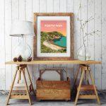porth wen brickworks angelsey cemaes bay beach poster travel railway modern poster welsh north wales print art gift framed