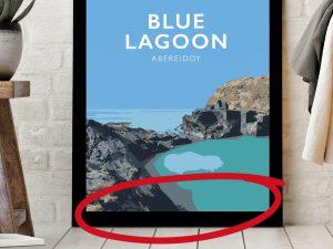 unbranded-beach-poster-travel-railway-modern-poster-welsh-north-wales-print-art-gift-framedunbranded