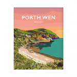 porth wen brickworks angelsey cemaes bay beach poster travel railway modern poster welsh north wales beautiful art gift print framed