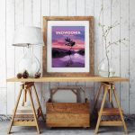 snowdonia lone tree mountain poster travel vintage poster welsh north wales framed artwork