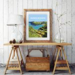 pembrokeshire wales beach coast poster print west south seaside welsh posters travel railway gift prints coastal path