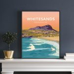 Whitesands Bay pembrokeshire wales beach coast poster print west south seaside welsh posters travel railway gift retro print