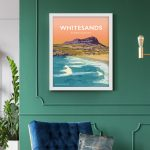 Whitesands Bay pembrokeshire wales beach coast poster print west south seaside welsh posters travel railway prints Pembs South Pembs St Davids Ramsey Island