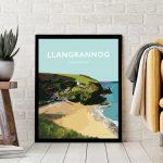 Llangrannog Beach Cardigan Bay Ceredigion wales beach coast poster print west seaside welsh posters travel