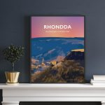 Rhondda Valley Cwm Rhondda Welsh Posters Rhondda Cynon Taf Rhondda Fawr wales poster print mountain travel prints retro beautiful