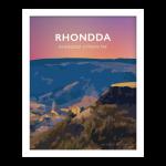 Rhondda Valley Cwm Rhondda Welsh Posters Rhondda Cynon Taf Rhondda Fawr wales poster print cycling mountain travel prints