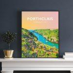 porthclais harbour st davids welsh posters Pembrokeshire coastal coast path art teifi wales poster print travel summer