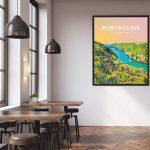 porthclais harbour st davids welsh posters Pembrokeshire coastal coast path art teifi wales poster print travel vibrant