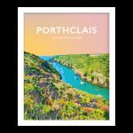 porthclais harbour st davids welsh posters Pembrokeshire coastal coast path art teifi wales poster print travel