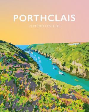 porthclais harbour st davids welsh posters Pembrokeshire coastal coast path art teifi wales poster print travel wall