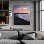 Colwyn Bay North WalesConwy Beach Bays Prom Wales Poster Print West Seaside Welsh Posters Travel porth eirias art