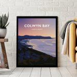 Colwyn Bay North WalesConwy Beach Bays Prom Wales Poster Print West Seaside Welsh Posters Travel porth eirias