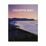 Colwyn Bay North WalesConwy Beach Bays Prom Wales Poster Print West Seaside Welsh Posters Travel porth eirias white framed poster