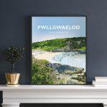 Pwllgwaelod Beach Dinas Head Pembrokeshire Sir Benfro Wales Poster Print West Seaside Welsh Posters Travel