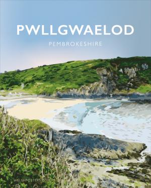 Pwllgwaelod Beach Dinas Head Pembrokeshire Sir Benfro Wales Poster Print West Seaside Welsh Posters Travel Calm