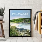Pwllgwaelod Beach Dinas Head Pembrokeshire Sir Benfro Wales Poster Print West Seaside Welsh Posters Travel Leaning Poster
