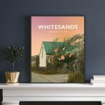 Whitesands Beach Bay Pembrokeshire Buoy Tree Wales Poster Print West Seaside Welsh Posters Travel Railway Art Gift