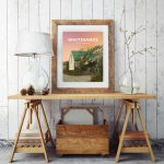 Whitesands Beach Bay Pembrokeshire Buoy Tree Wales Poster Print West Seaside Welsh Posters Travel Sunset